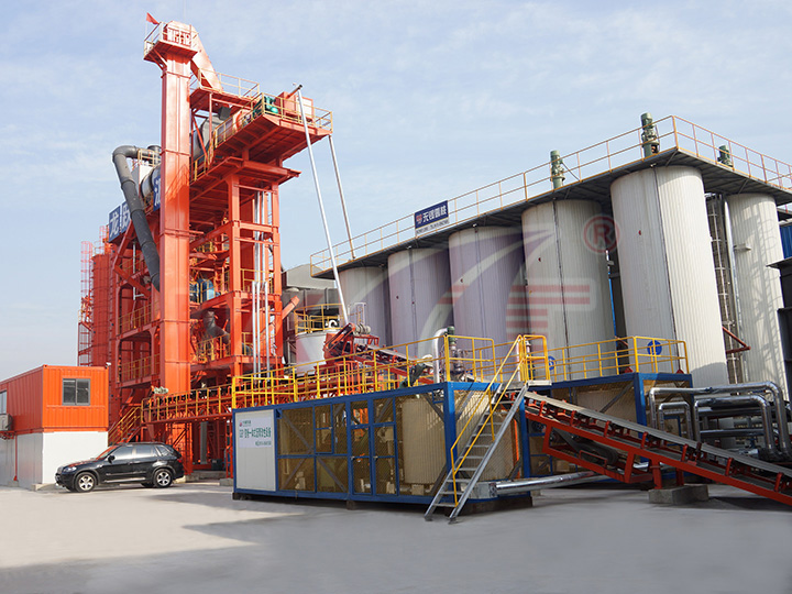 Suzhou Long Yue 10 tons of mobile integrated modified asphalt equipment