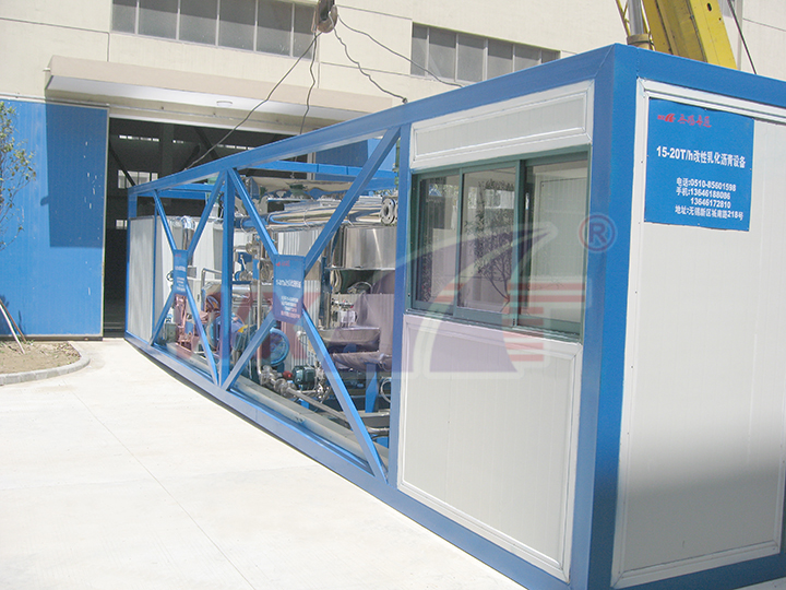 Modified emulsified asphalt equipment