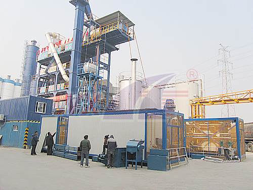 Powder and SBS modified asphalt equipment integrated